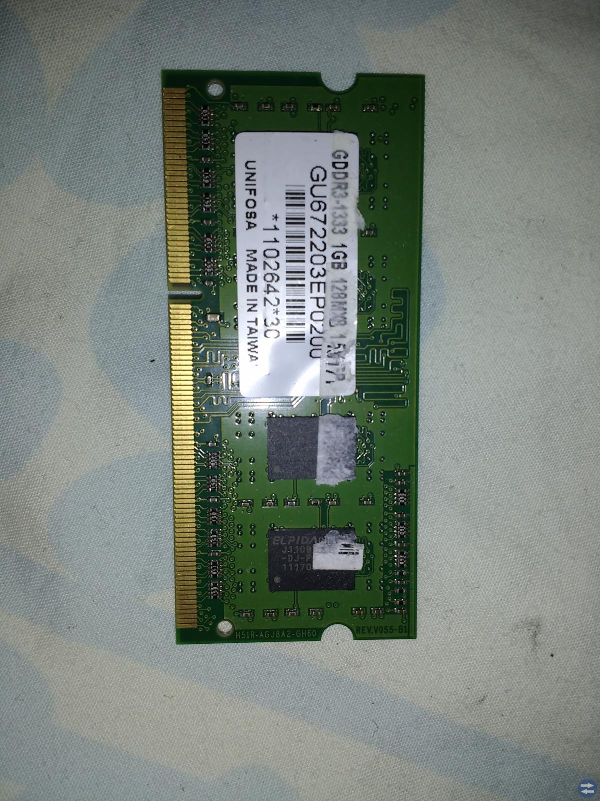 Ram minne 1st-4GB. 3st-2GB