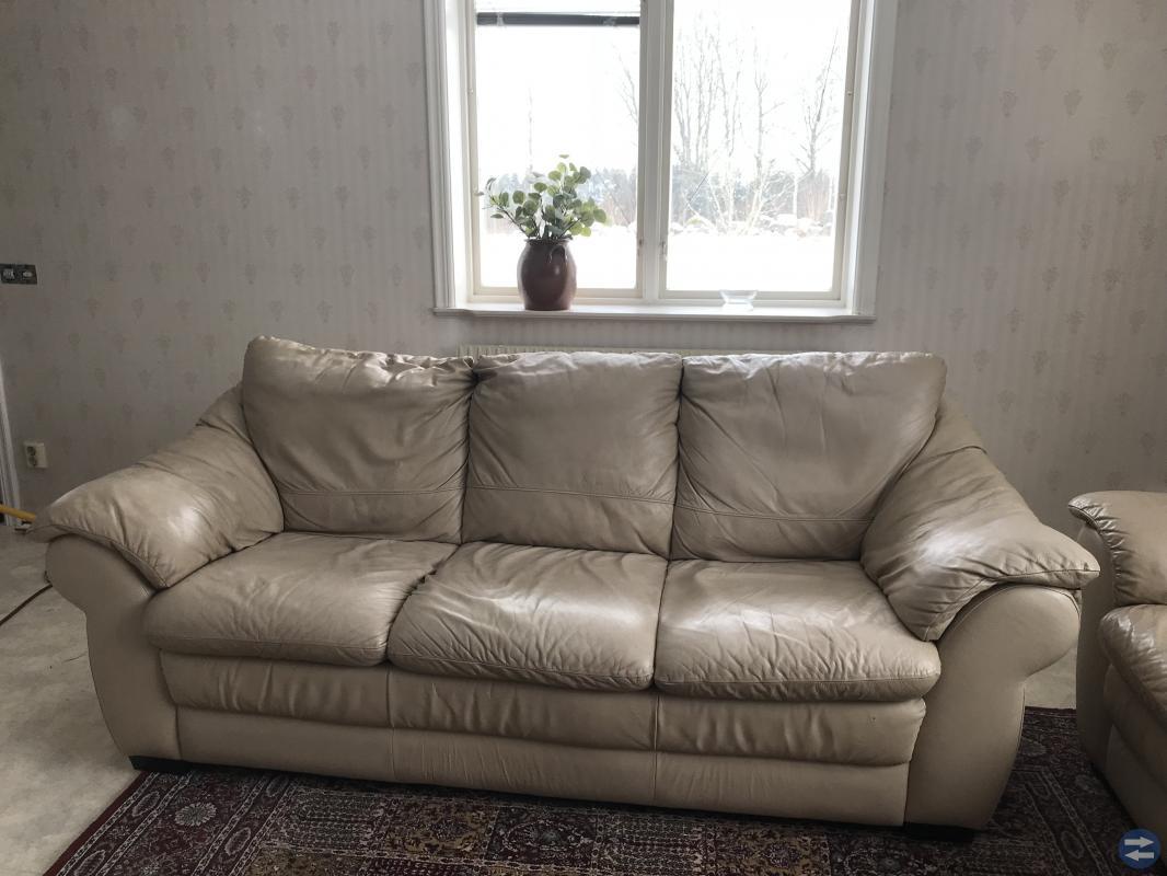 Skinn soffa 3-a och 2-a