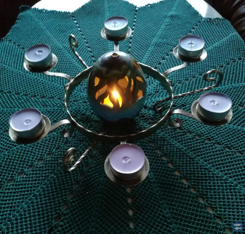 Mässing ljusstake - runda