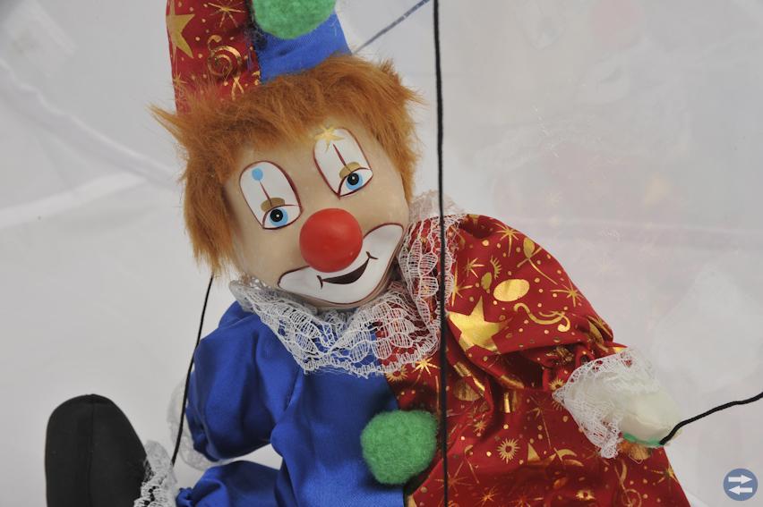 Clown-Kasperdocka
