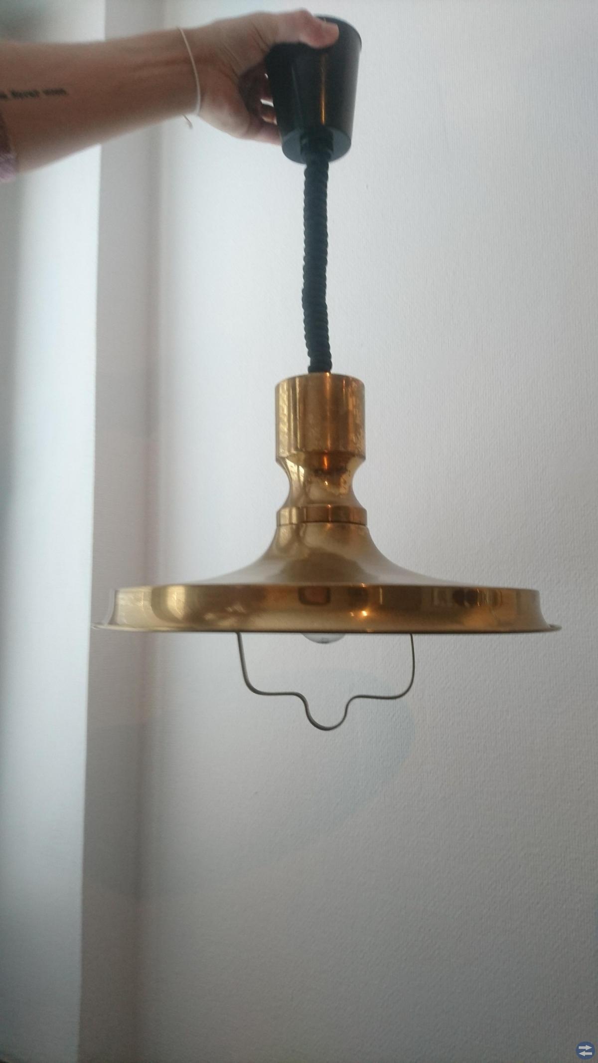 Mässinglampa från 70-talet