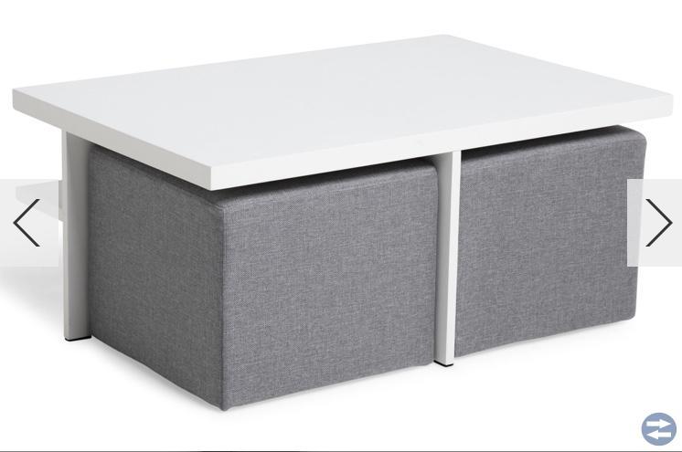 Tv-bord med 2pallar
