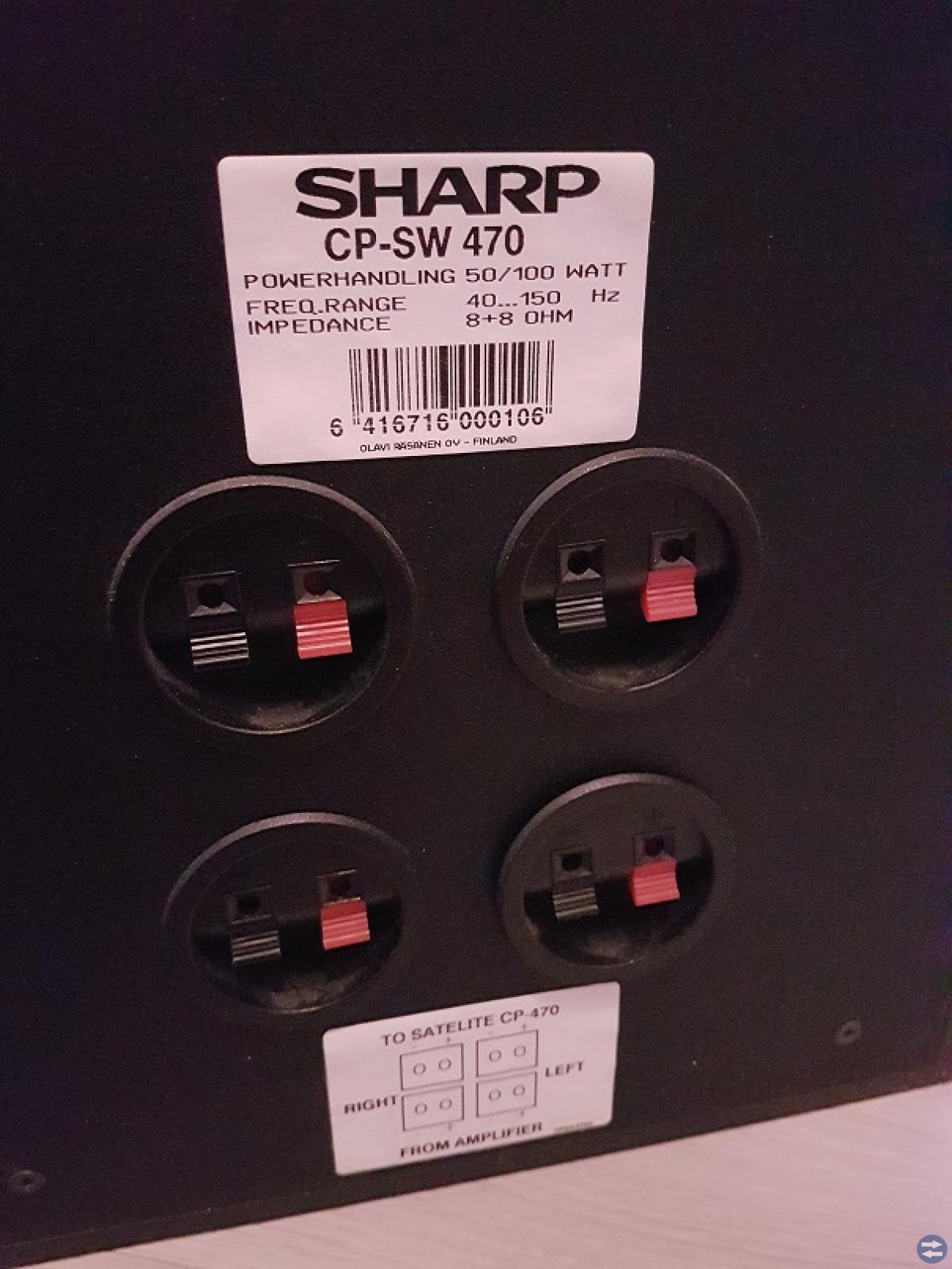 Sharp sourondhögtalare med subwoofer