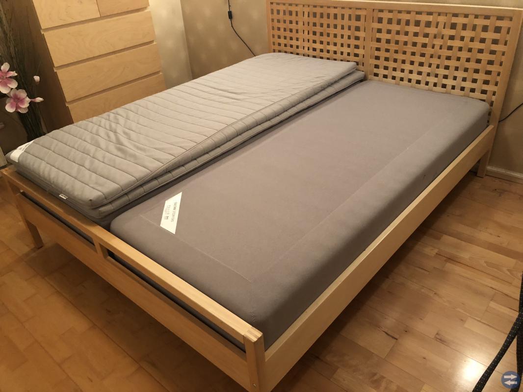 Sängram + 2 st Ikea SULTAN 2 x 80x200 CM