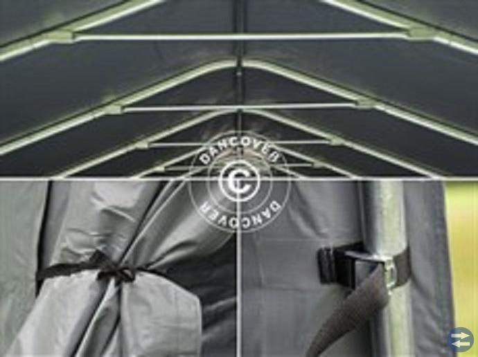 Garagetält 3,6 x 7,2 x 2,68 PVC Grå 5450:-