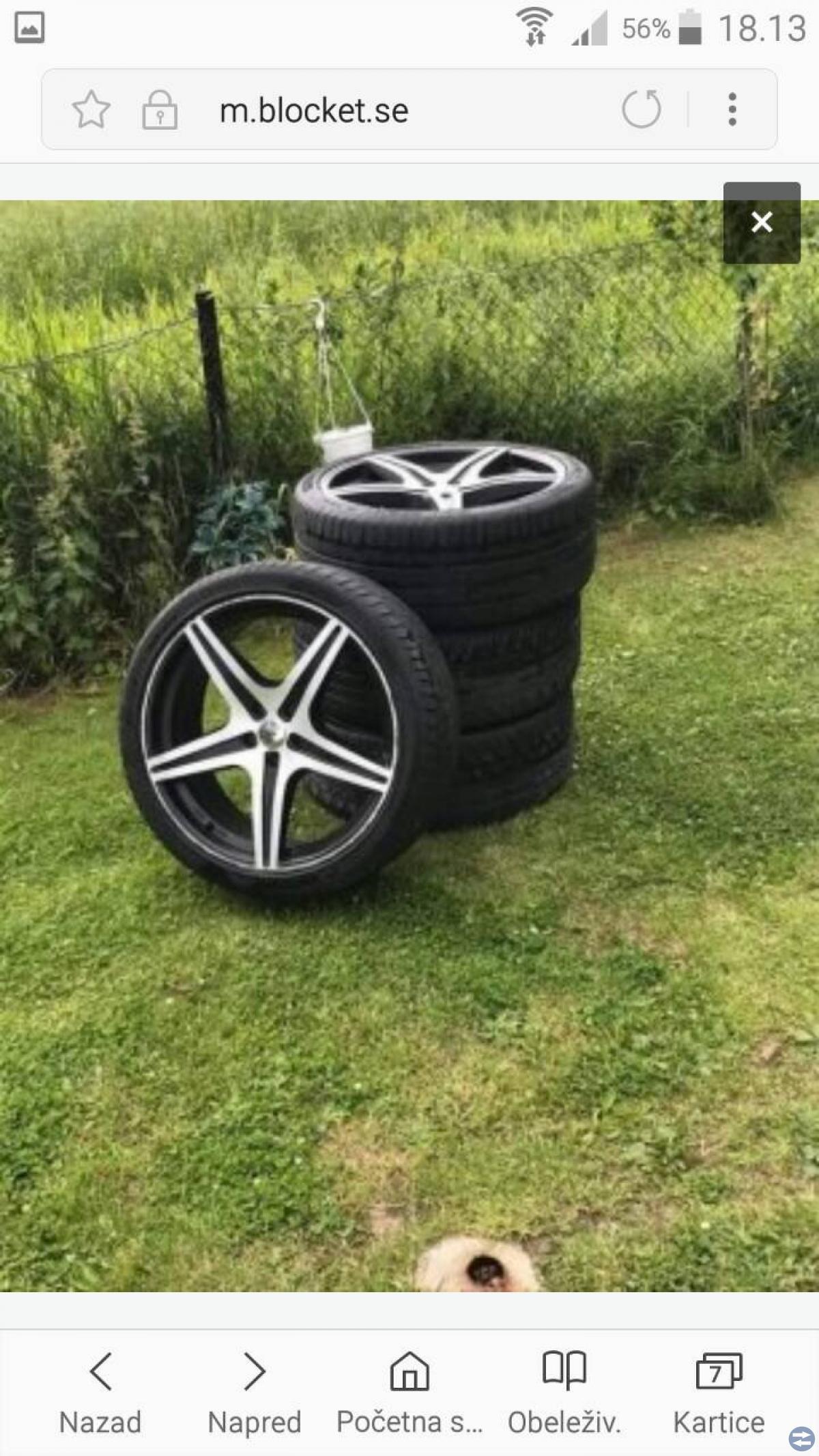 20' fälgar med sommar däck