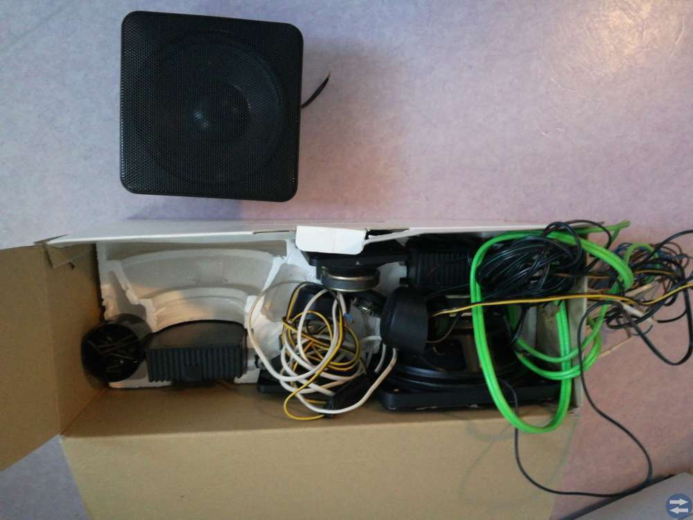 8 tums högtalare, mellan och diskant till bil