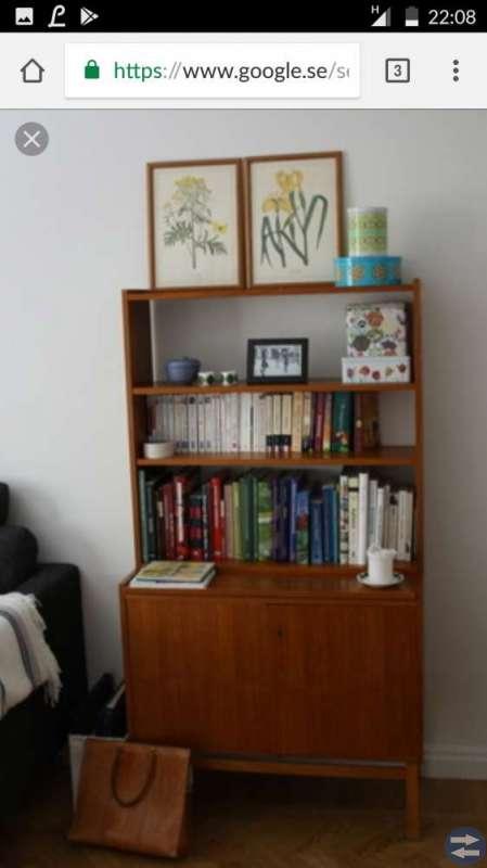 Sökes: bokhylla i teak för att köpa