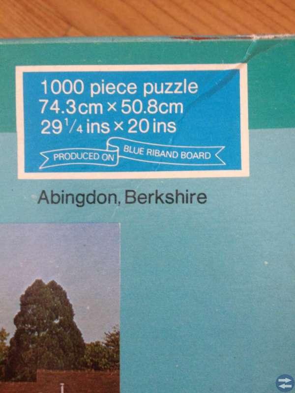 Pussel 1000 bitar - engelskt landskapsmotiv
