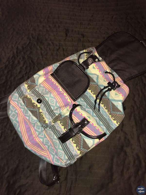 Mönstrad ryggsäck