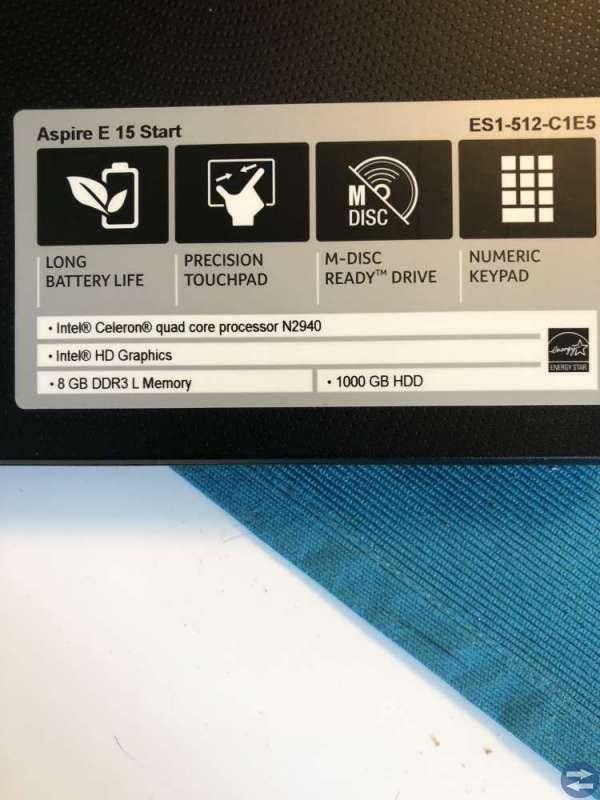 Acer ES-1-512-C1E5 N2940/8/1TB/INTEL