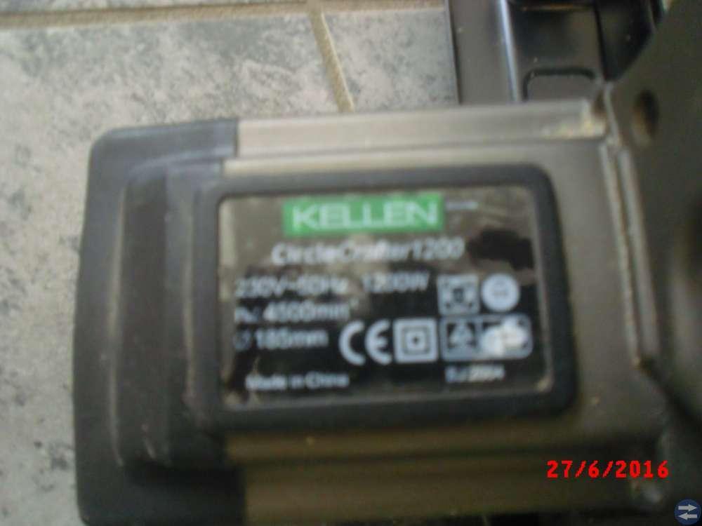 Cirkelsåg Kellen. 1200W 230 V D185