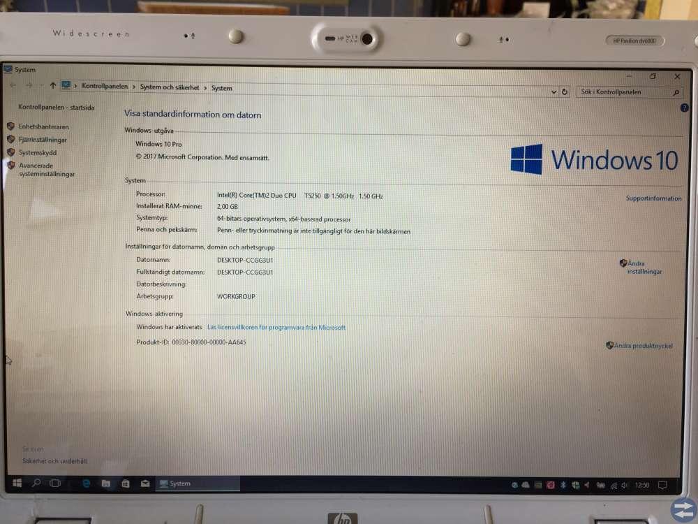 Bra och snabb  Surf & kontorsdator med Windows 10