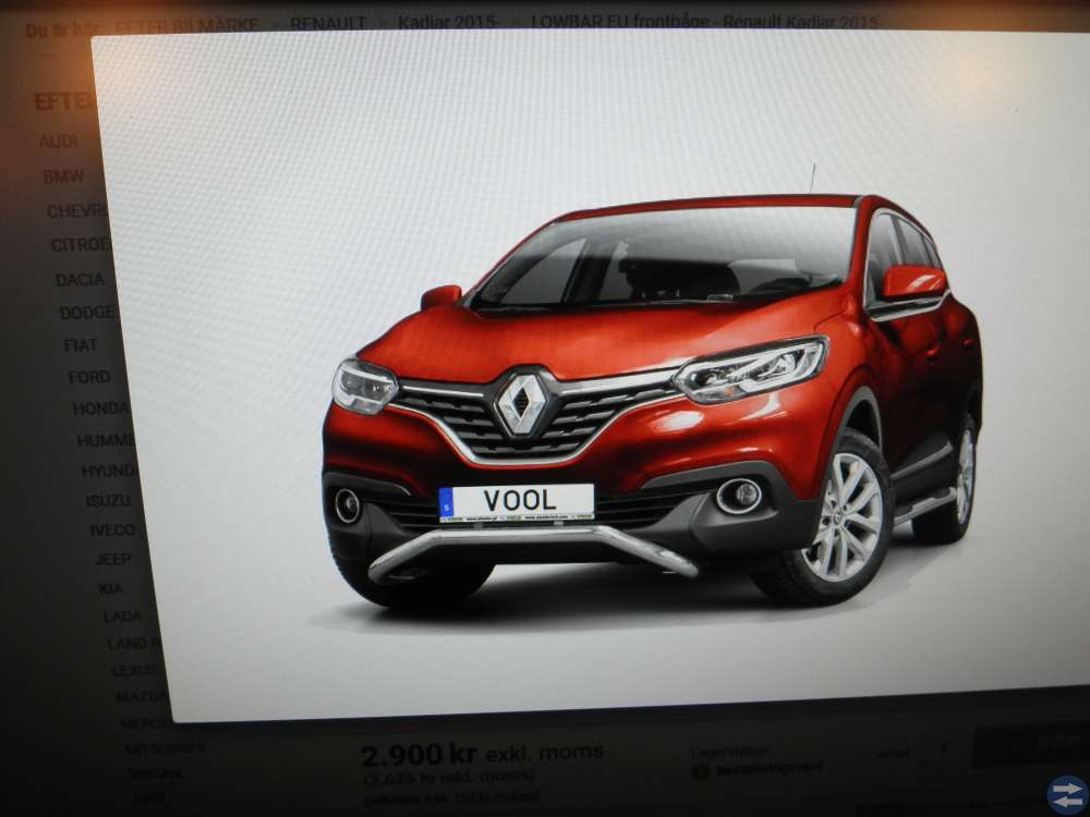 Lombar EU Frontbåge Renault Kadjar 2015-