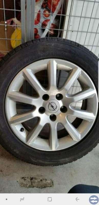 Opel astra h sommardäck med alufälg