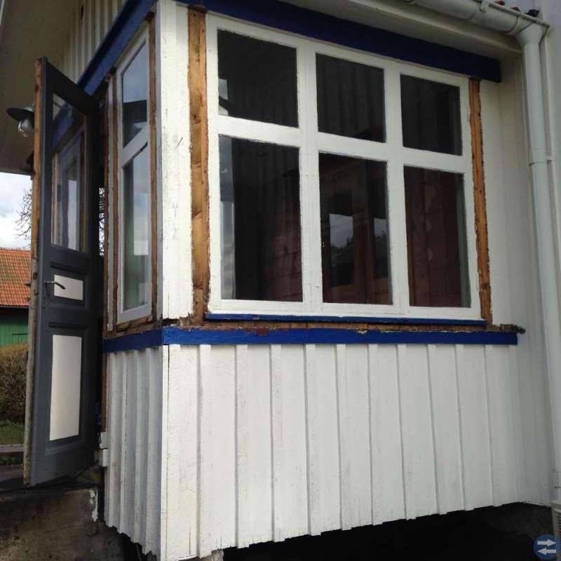 Verandadörr med fönster