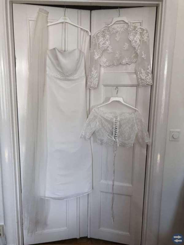 Brudklänning, slöja, bolero