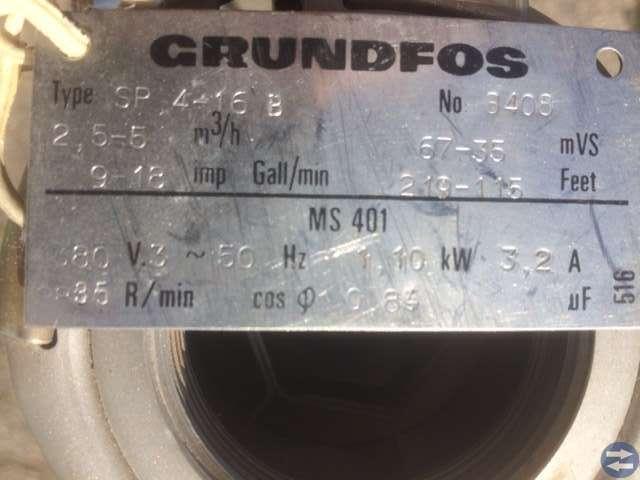 Grundfos SP 4-16B Djupvattenpump
