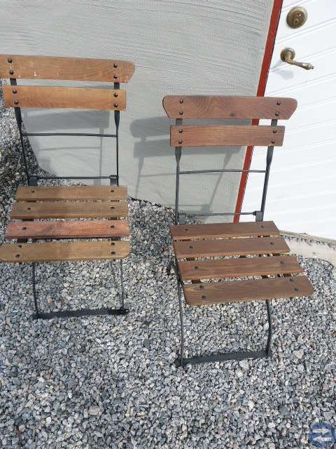 Trädgårdsmöbler, 4 cafe' stolar