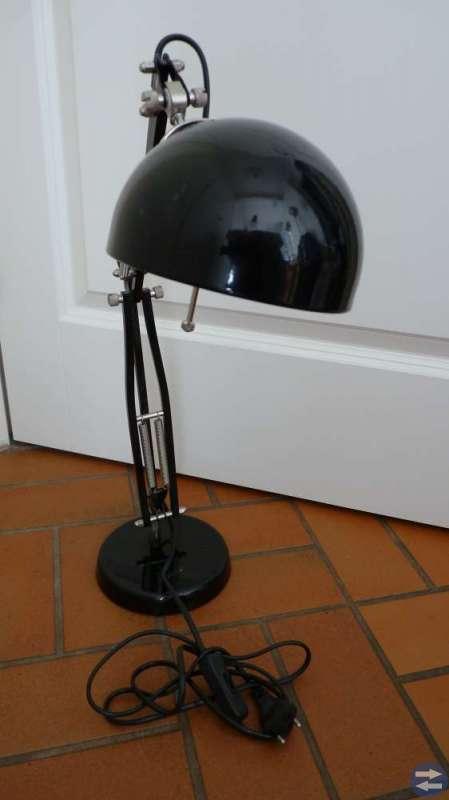 Skrivbordlampa / Sängbordlampa i svart stål Retro
