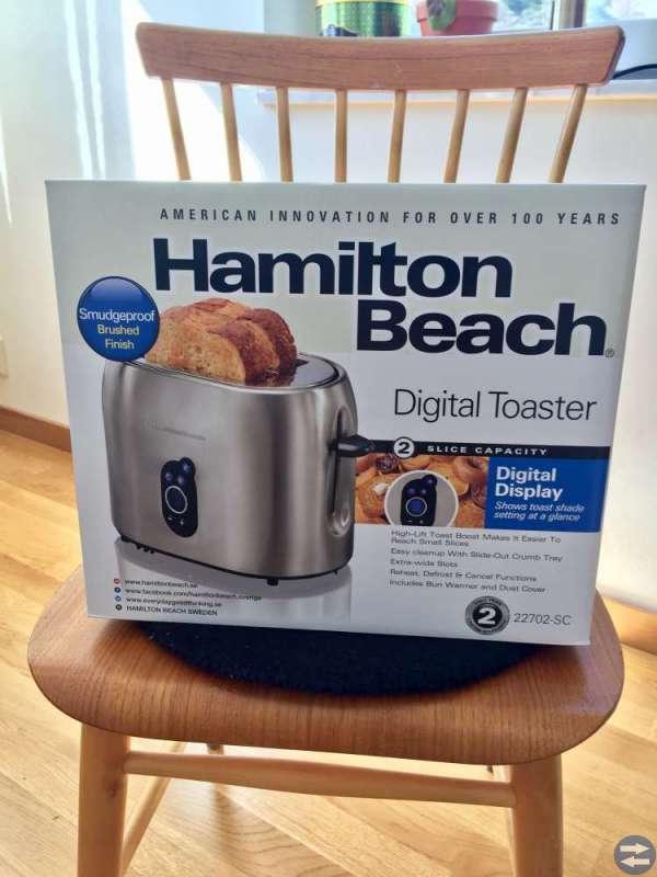 Oanvänd digital brödrost från Hamilton Beach