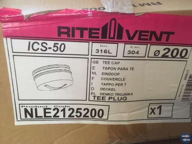 Schiedel skorsten ICS-50 lock 200mm TEE PLUG