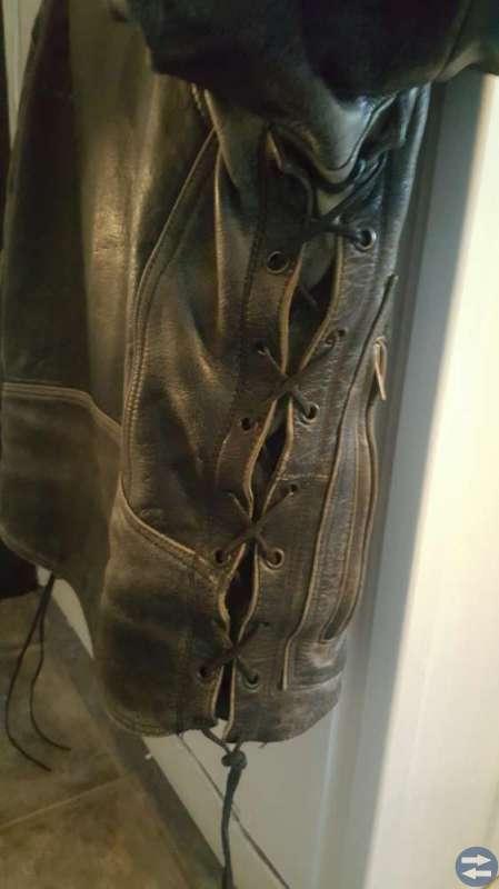 Mc jacka och byxor i läder