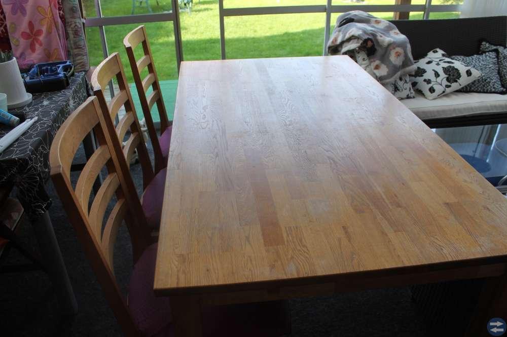 Matbord + 6 st stolar EK