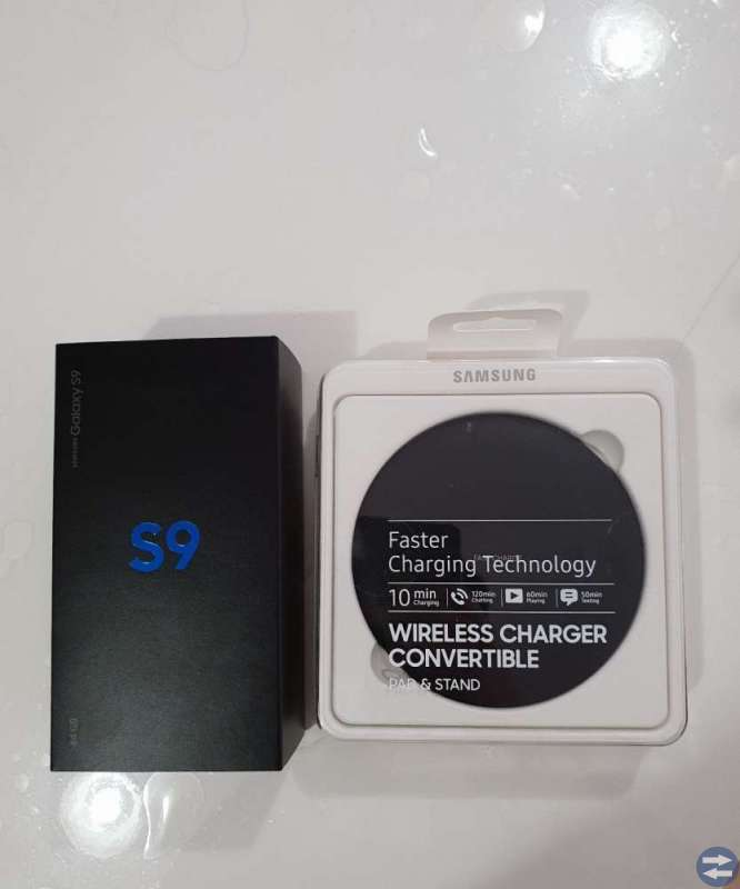Samsung Galaxy S9 64GB med Wireless charger