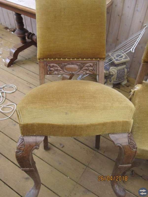 4 st stoppade stolar