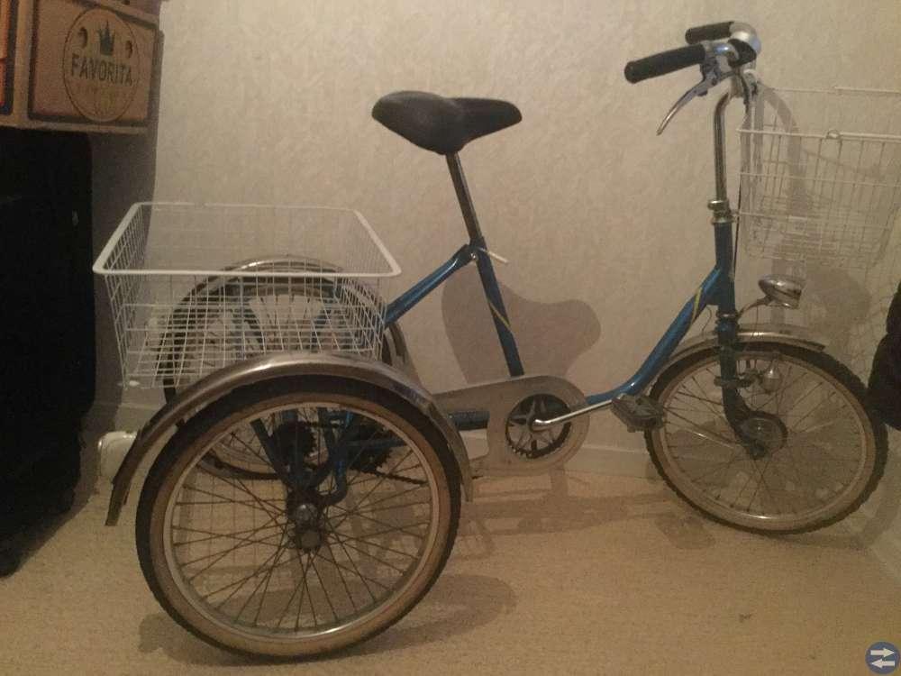 Monark 3hjulig cykel 2växl säljes p g a flytt