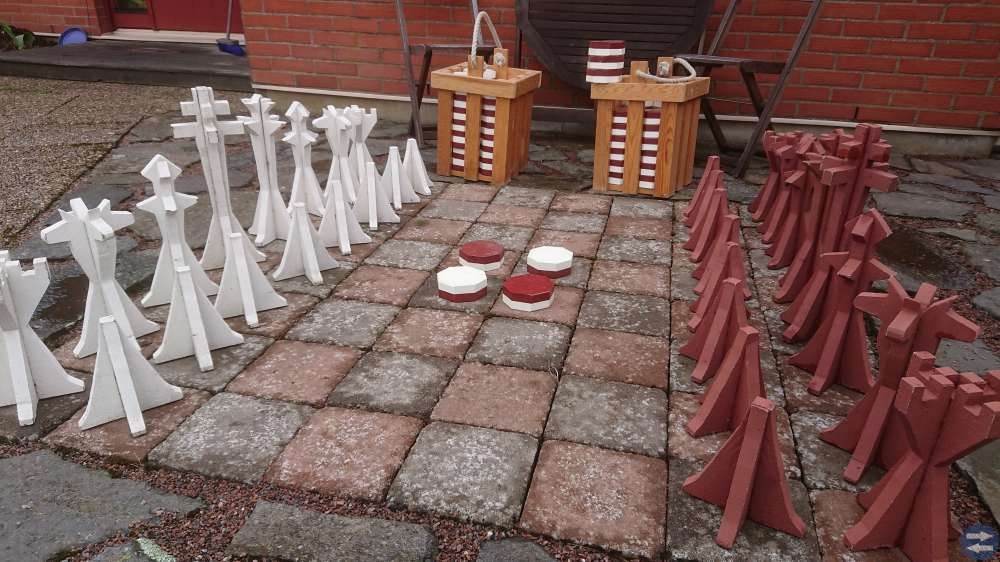Schack och Othello för utomhusbruk