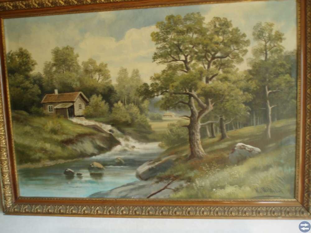 Stor landskapsmålning av Karl Wittgren