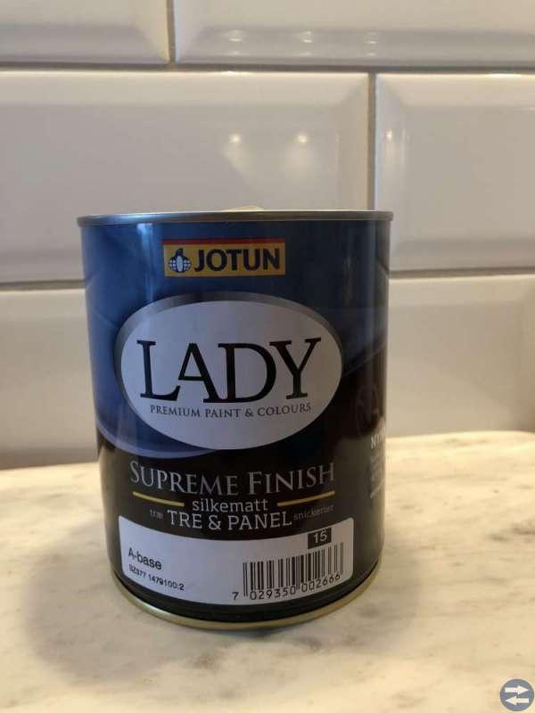 Färg - Jotun Lady Supreme silkematt