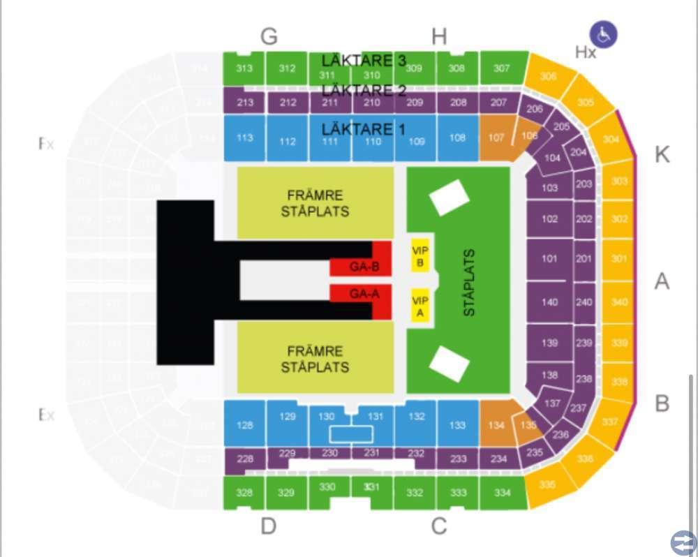 3st sittplatsbiljetter till Beyoncé&Jay-z konsert
