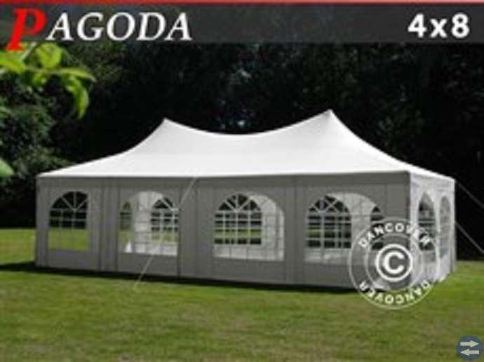 Partytält Pagoda 4 x 8 m PE Naturvit Nu! 5575:-