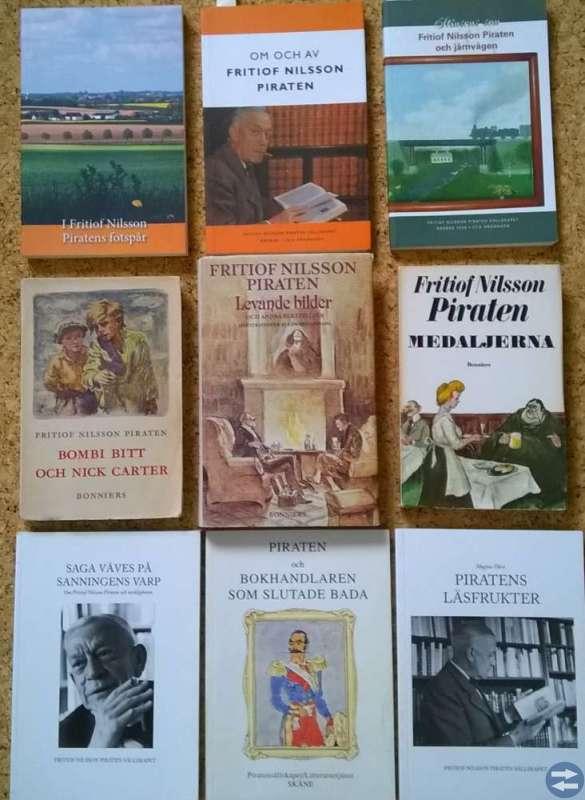 9 styck Piraten-böcker. Se bild och läs nedan.