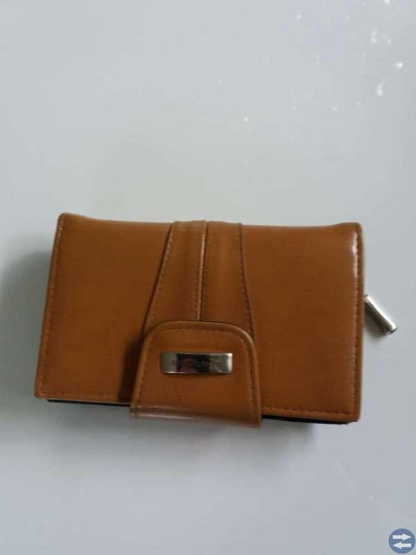 Skinnjacka med plånbok