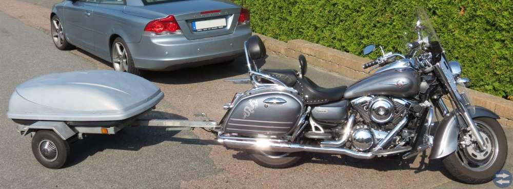Kawasaki VN 1600 Classic Tourer -06 med släpkärra