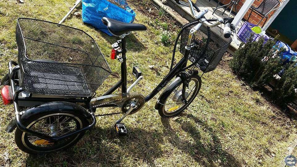 Tre hjuling el cykel