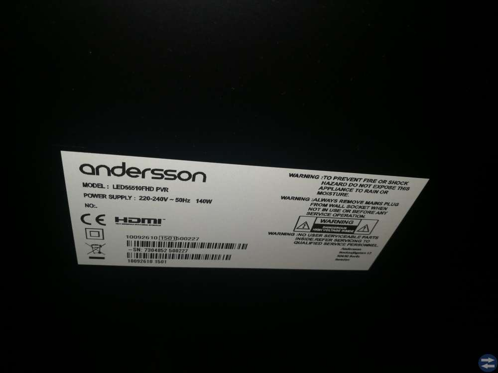 Andersson tv 55tums smart tv