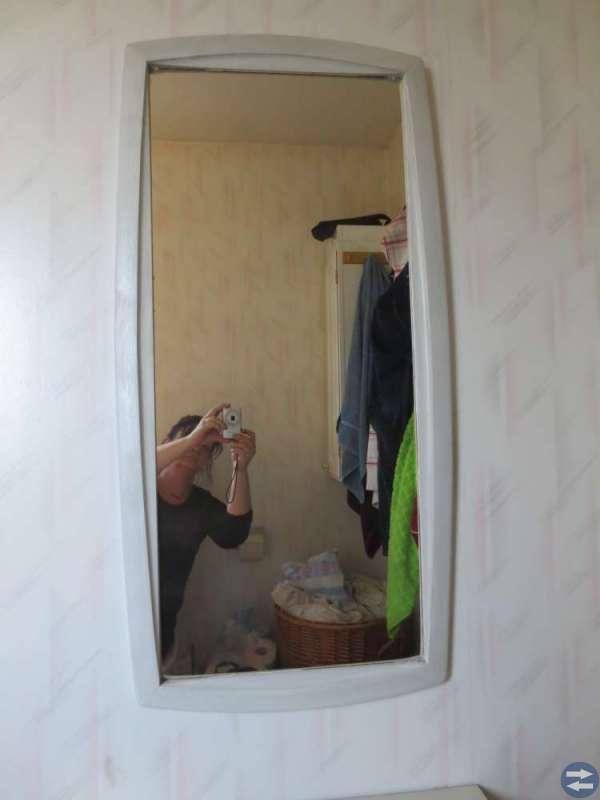 Retro! Hallmöbel med byrå och spegel. 50-tal.