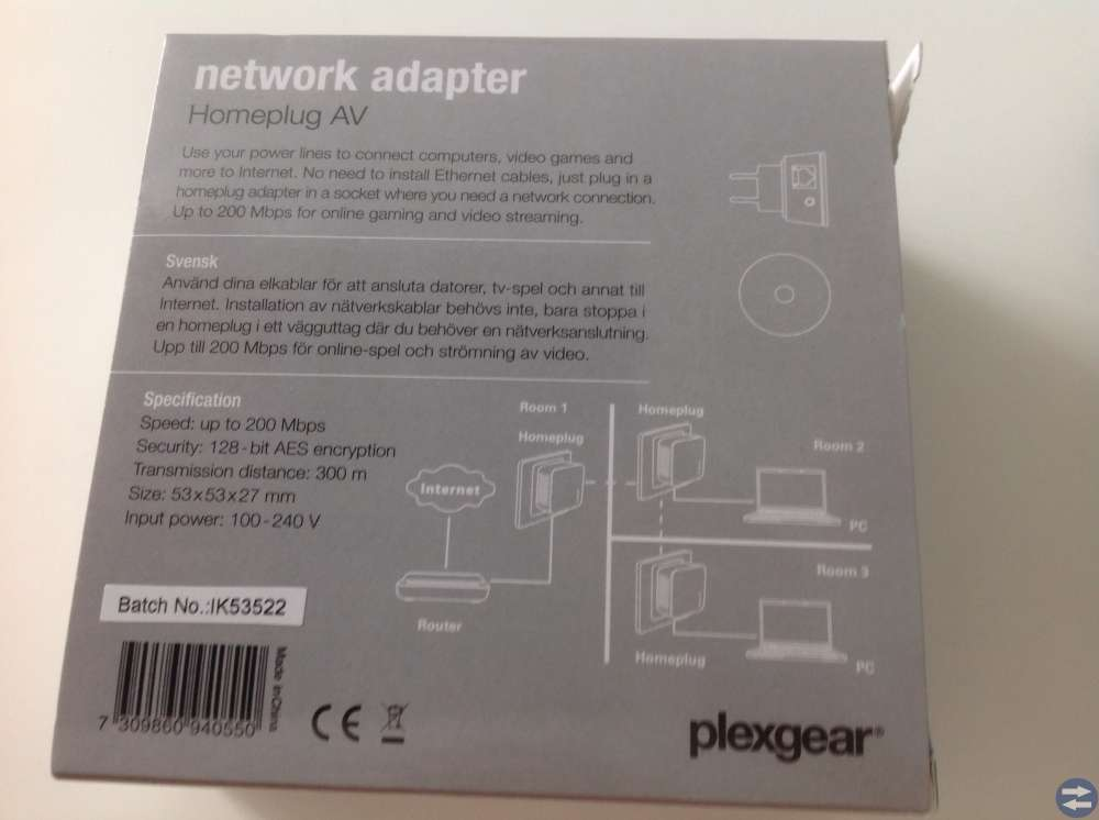 Homeplug Plexgear