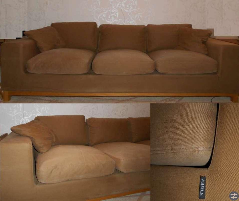INTERSTOP 3-sits soffa från MIO avtagbar klädsel