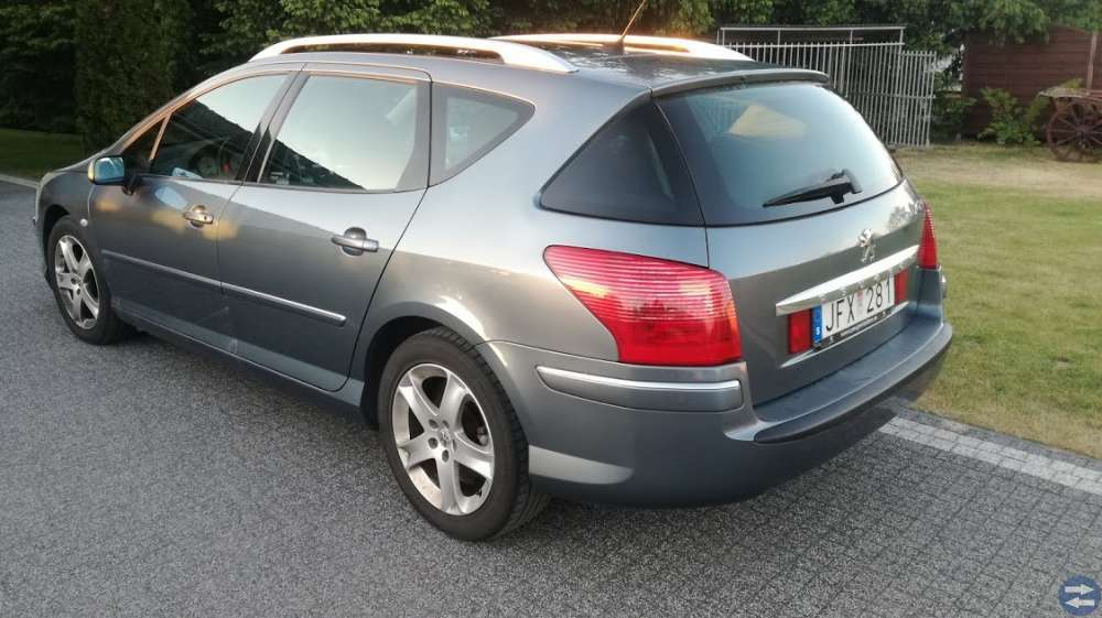 Peugeot 407SW 2,0HDI,Automat,Panorama,Ny bes -06