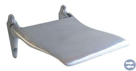 Edblad väggstol, aluminium mattpolerad.