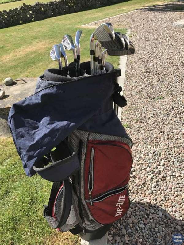 Golfset herr, klubbor och bärbag