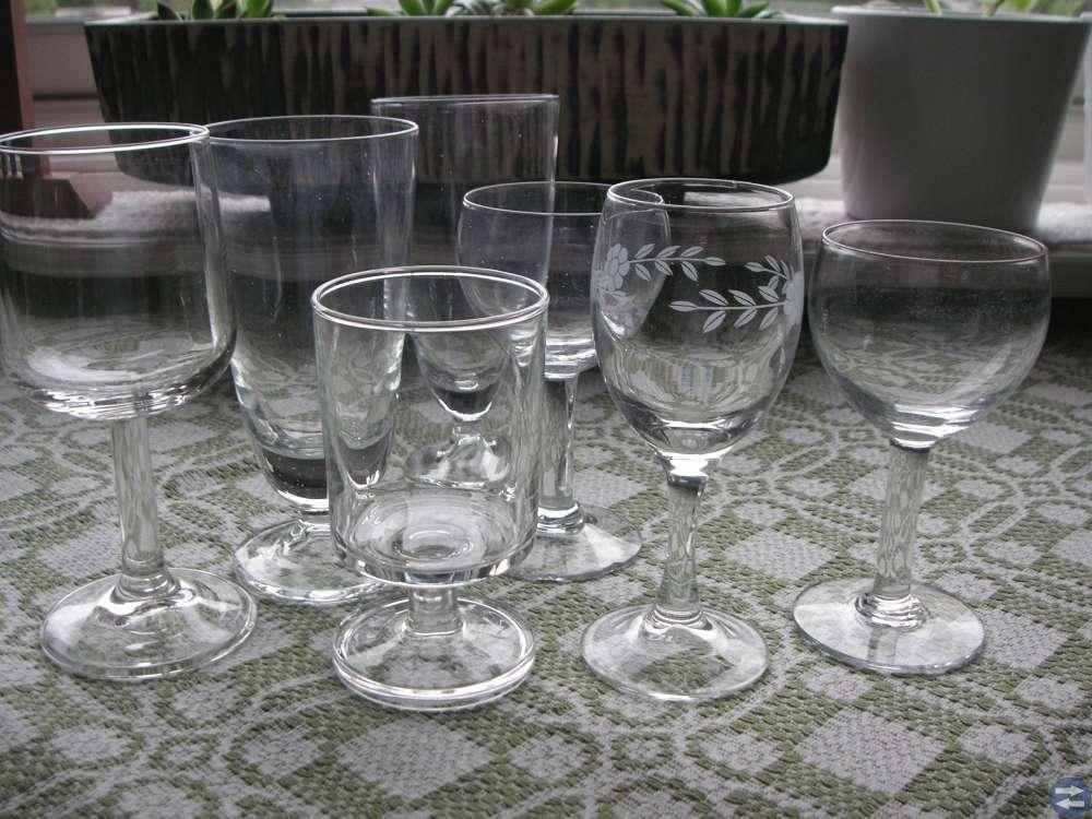 Koppar muggar glas