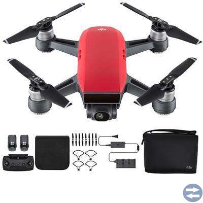 DJI Spark Quadcopter Drone (Lava Red) f
