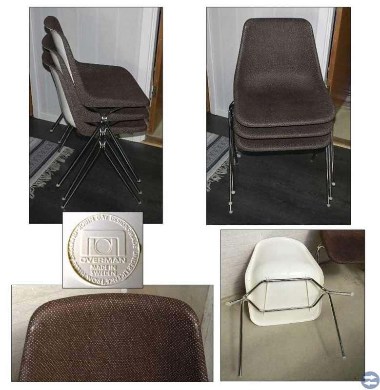 3 staplingsbara stolar / ROBIN DAY Made in Sweden
